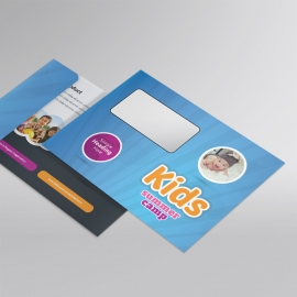 Kids Summer Camp B5_Envelope With Blue Accent