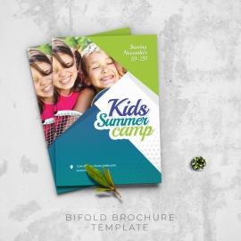 Kids Summer Camp Bifold Brochure Template