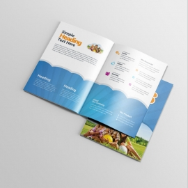 Kids Summer Camp BiFold Brochure With Blue Accent