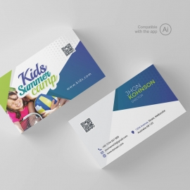 Kids Summer Camp Business Card Template