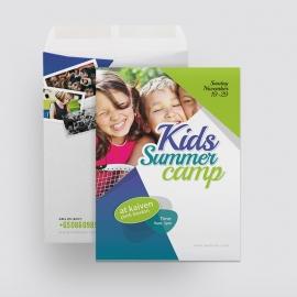 Kids Summer Camp Catalog Envelope Template
