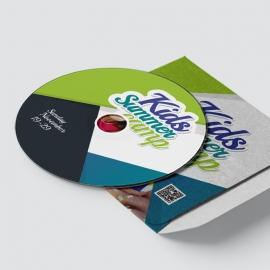 Kids Summer Camp CD-Sticker Template