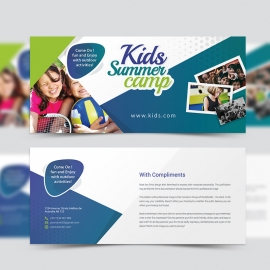 Kids Summer Camp Compliment Card Template