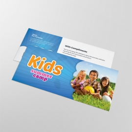Kids Summer Camp Compliment Card With Blue Accent