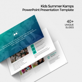 Kids Summer Camp Creative PowerPoint Presentation Template