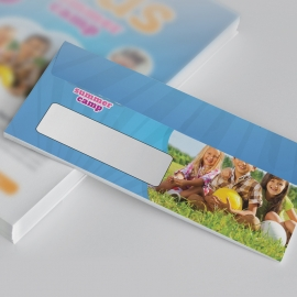 Kids Summer Camp DL Envelope Commercial With Blue Accent