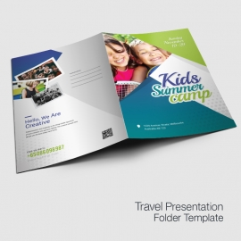 Kids Summer Camp Presentation Folder Template