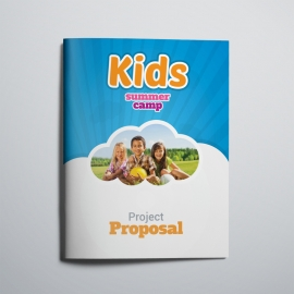 Kids Summer Camp Project Proposal With Blue Accent