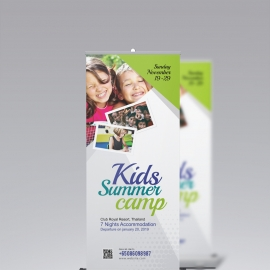 Kids Summer Camp Rollup Signage