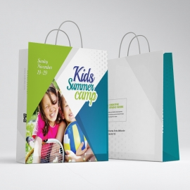 Kids Summer Camp Shopping Bag Template