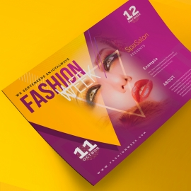 Landscape Fashion Week Flyer Poster With Triangle