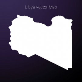 Libya Map Vector Design