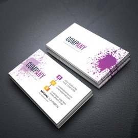 Light Creative BusinessCard With Purple