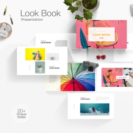 Look Book Powerpoint Presentation Template
