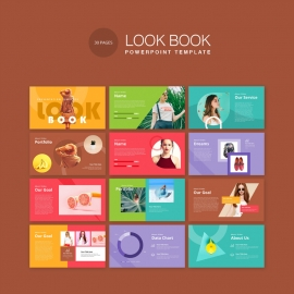 LookBook Pastel PowerPoint Template