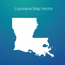 Louisiana Map By Gradient Background Vector Design