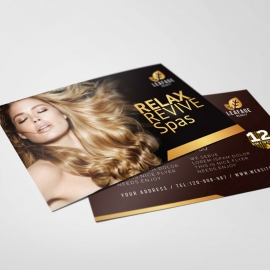 Luxury Beauty Spa Postcard