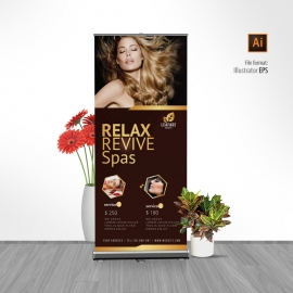 Luxury Beauty Spa Rollup Banner