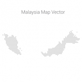 Malaysia Map By Dots Vector Design
