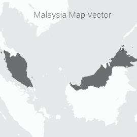 Malaysia Map With Dark Background