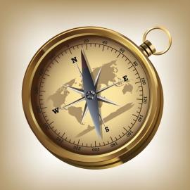 Map Compass Vector Design