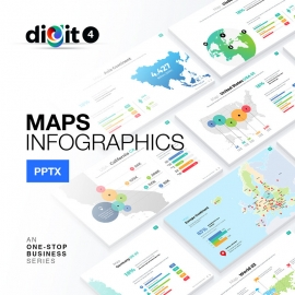 Map Infographics Powerpoint | Digit IV