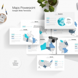 Maps Google Slide Presentation Template