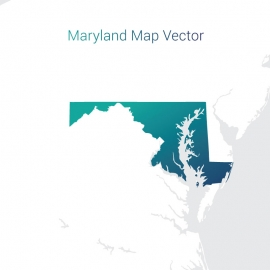 Maryland Map By Gradient Vector Design