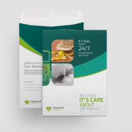 Medical & Health Care Catalog Envelope