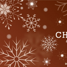Merry Christmas Vector Banner