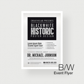 Minimal Black-White Event Poster