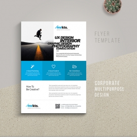 Minimal Boxs Business Flyer With Blue Accent