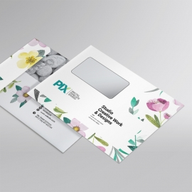 Minimal Business  B5_Envelope With Flowers