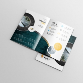 Minimal Business BiFold Brochure