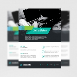 Minimal Business Black Flyer