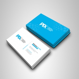 Minimal Business Card With Cyan/Blue Accent