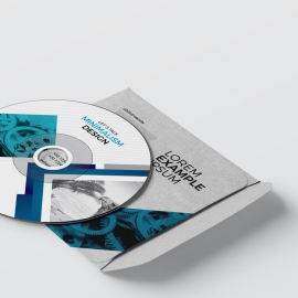 Minimal Business CD Pack With Blue Accent