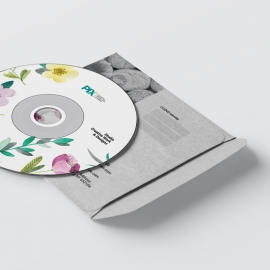Minimal Business CD Pack With Flowers