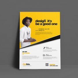 Minimal Business Flyer With Black Yellow Accent