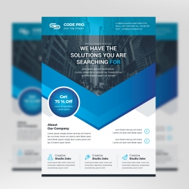 Minimal Business Flyer With Blue Accent