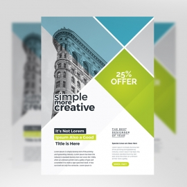 Minimal Business Flyer With Green Accent