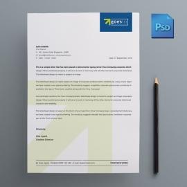 Minimal Business Letterhead Design