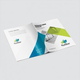 Minimal Business Presentation Folder With Blu /Green Accent