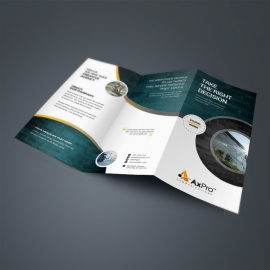 Minimal Business TriFold Brochure With Cricle