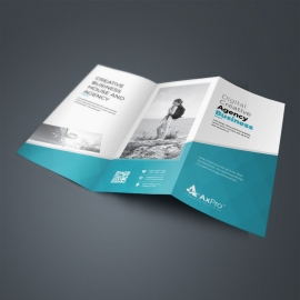 Minimal Business TriFold Brochure With Paste Accent
