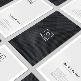 Minimal Clean Business Card Portrait