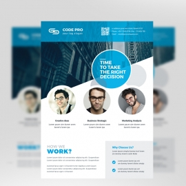 Minimal Clean Business Flyer With Cricle