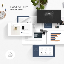 Minimal Clean Case Study Google Slide Template