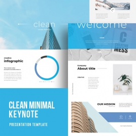 Minimal Clean Keynote Template
