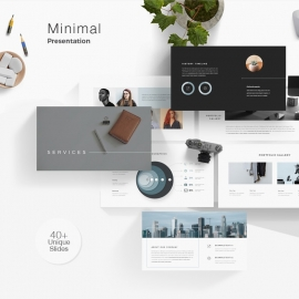 Minimal Clean Powerpoint Template